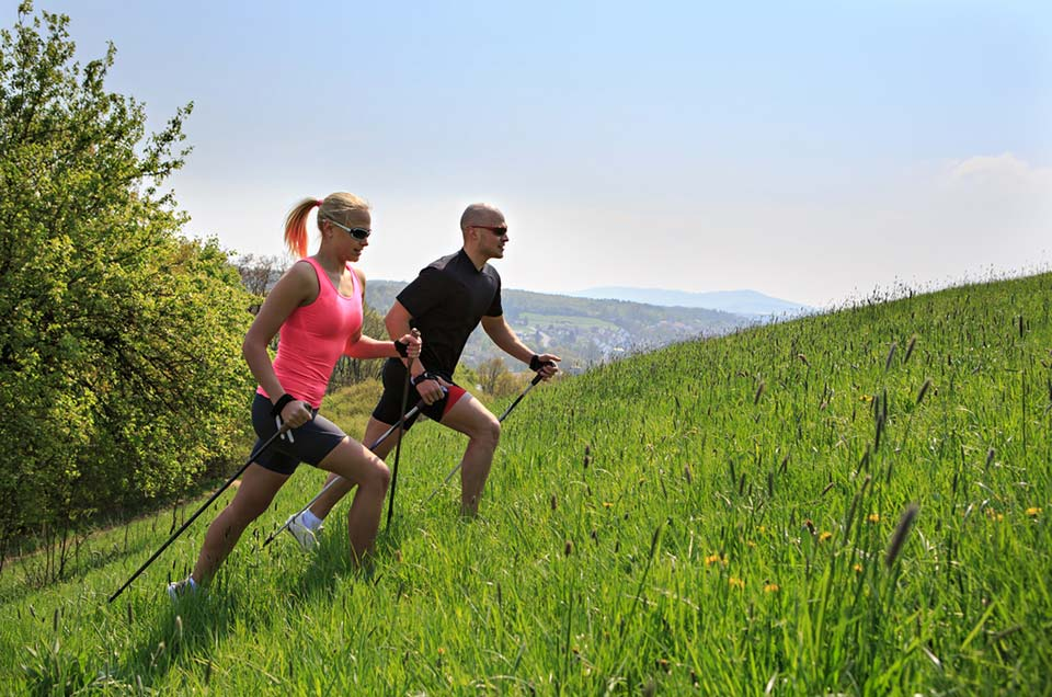 Nordic walking and jogging Beskydy mountains